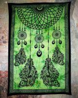 Wandtuch - Dekotuch Traumfänger grün