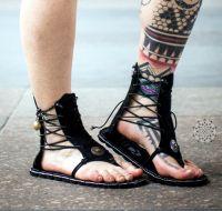 Sandalen | Warrior Goddess #1 - schwarz