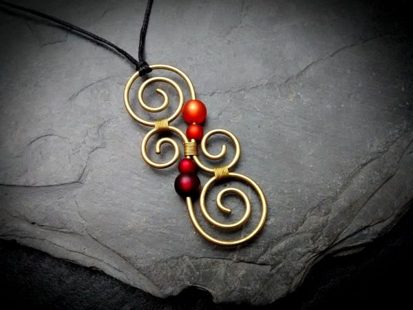 Koru Kette Messing | Gold | Orange | Rot