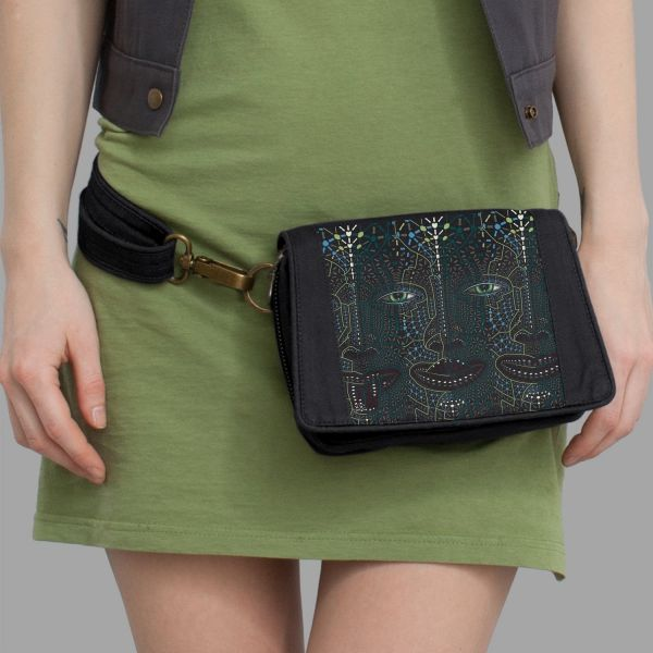 Strap Bag 4th Dimension schwarz | uv-aktiv