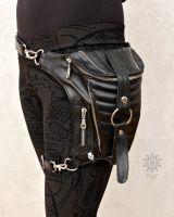 Beinholster | Oberschenkelholster | schwarz - silber
