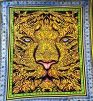 Wandtuch   Überwurf  - Mandala León