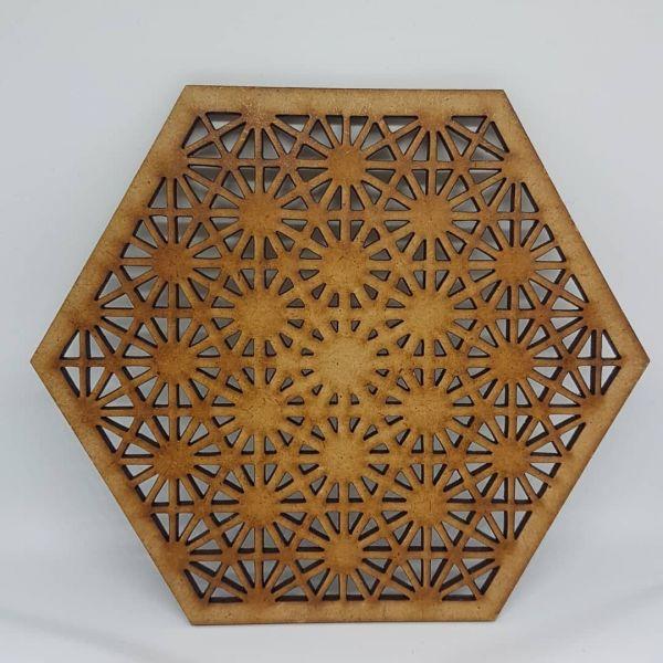 Laser Cut Coaster Tetrahedron - 14cm