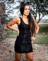 Kleid Textur | schwarz