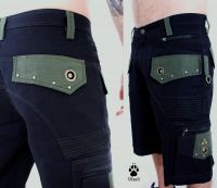 Shorts Hexagon | schwarz - olive
