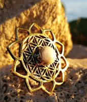 Ring | Lotus Flower Of Life | Mondstein