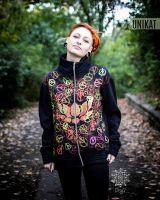CUBE - Jacke | Lotus Inner Peace | schwarz - UV - aktiv