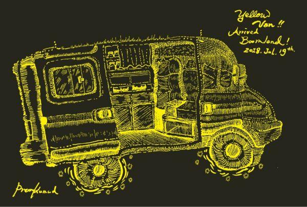 Postkarte | Yellow Van