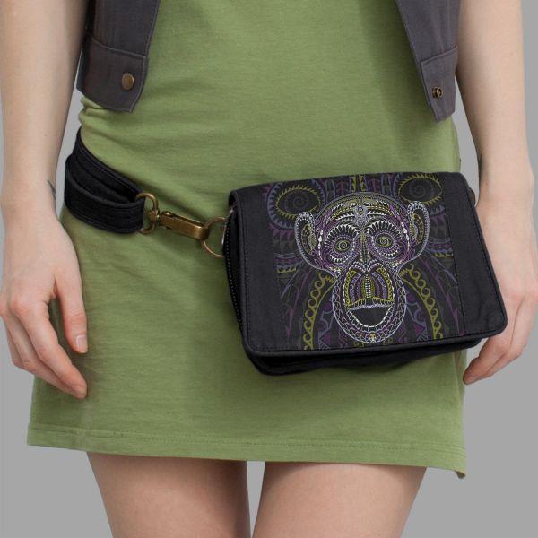 Gürteltasche | Strap Bag Ta Moko black | uv-aktiv