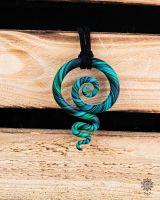 Kette | Anhänger | Fimo-Spirale #05