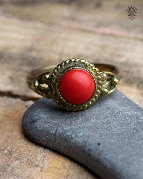 Ring Wood | Koralle-Imitat
