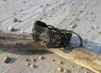 Makramee Armband - Tree of Life schwarz | braun