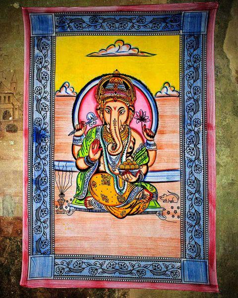 Wandtuch - Dekotuch Ganesh bunt