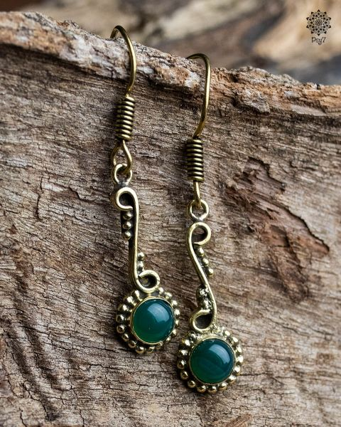 Ohrringe Edina | Chalzedon grün