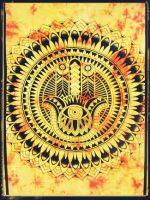 Wandtuch | Überwurf -  Hamsas Hand - orange