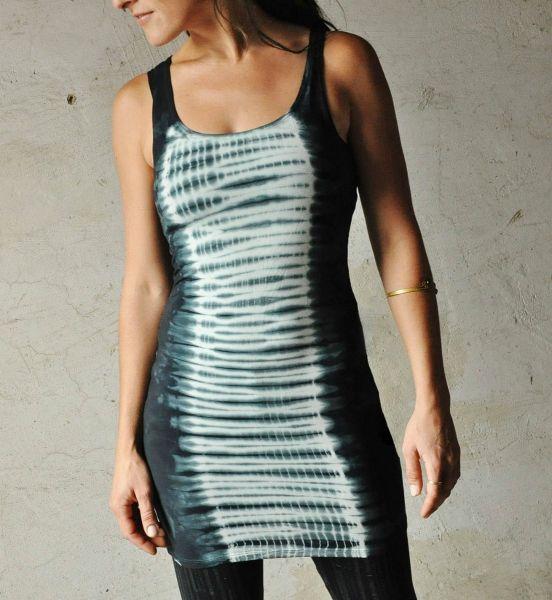 Longtop | Stonewash Tie Dye Waves | blue