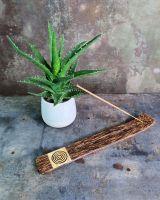 Räucherstäbchenhalter Kokosholz | Spirale