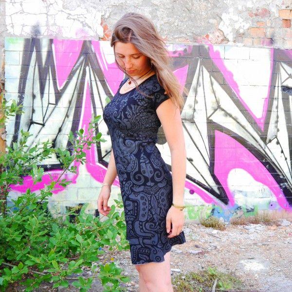 Maja Dress - Aztek black