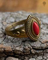 Ring Albin | Koralle-Imitat