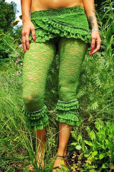 Lace Pants - green