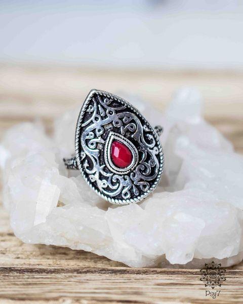 Ring Epona silber | Glas #3