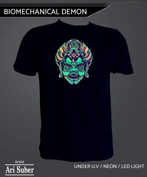 T-Shirt Biomechanical Demon - UV-aktiv