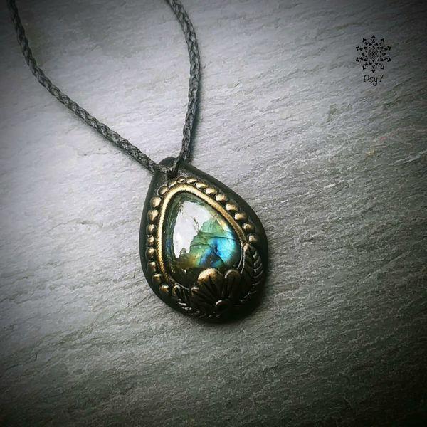 Amulett | Halskette - Labradorit #2