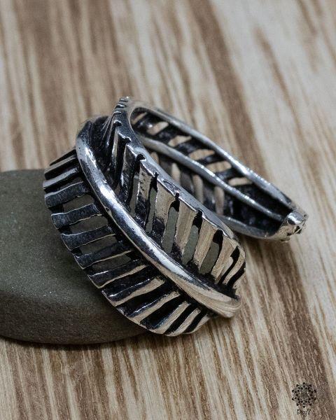 Ring Blatt silber