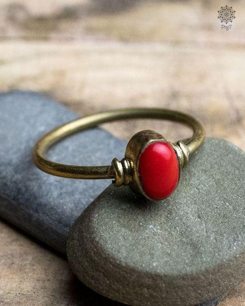 Ring Carax | Koralle-Imitat