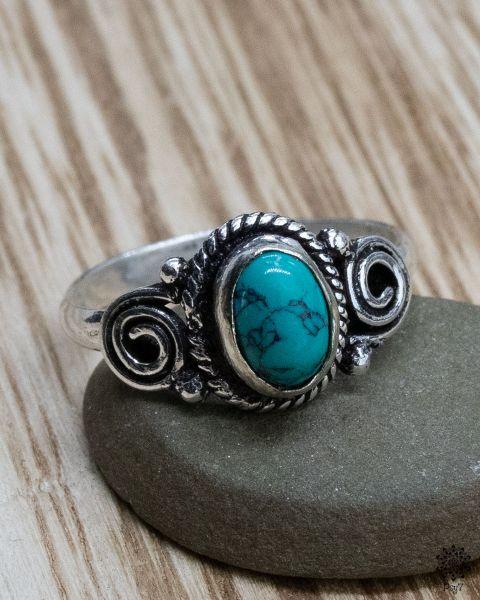 Ring Fara silber | Türkis