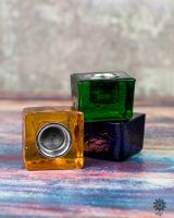 Kerzenhalter Kubus | recyceltes Glas - div. Farben