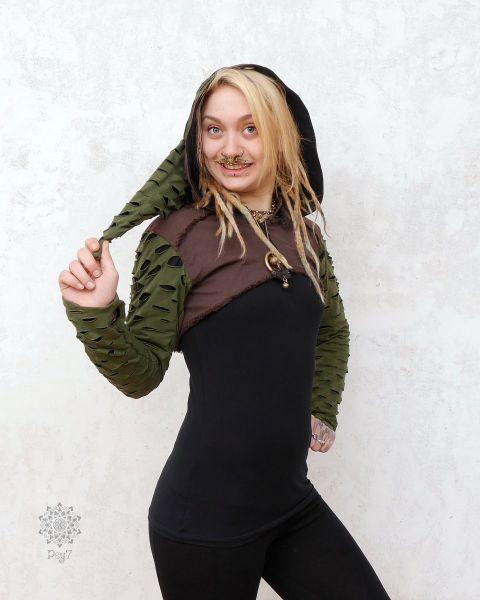 Crop Jacket - Bolero | Elfek - braun - grün