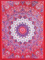 Wandtuch - Bettüberwurf Badmeri rot