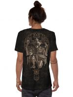 T-Shirt Hanuman | black rust