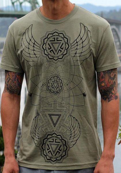 T-Shirt Manipura Chakra   olive