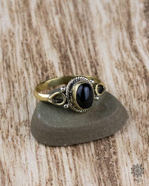 Ring Ferun Oval | schwarzer Achat