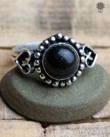 Ring Vayu | schwarzer Achat