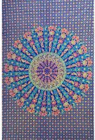 Wandtuch | Überwurf - Rainbow Mandala - Peacock