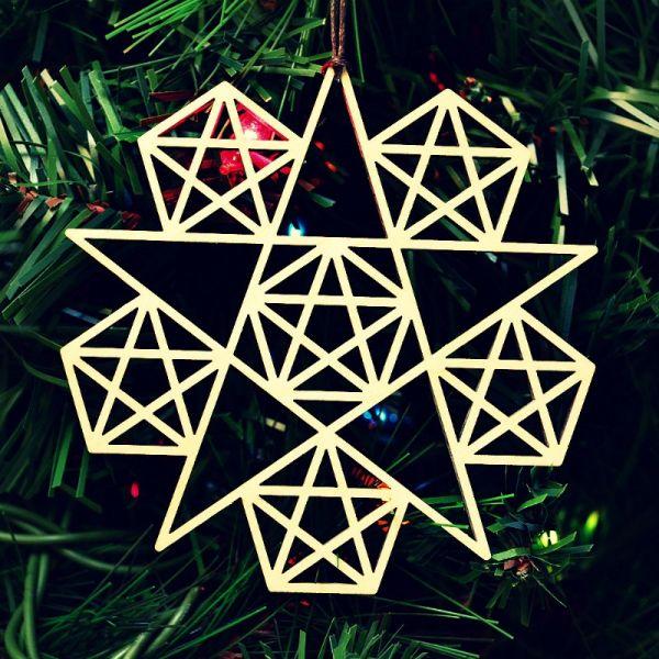 Heilige Geometrie | Fraktale Ornamente - 5 zackiger Stern