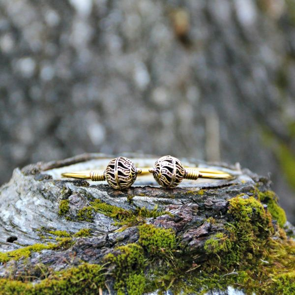 Armreif   Messing   Golden Marble