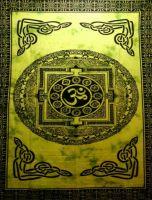 Wandtuch | Überwurf - Green Yantra OM