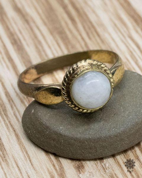 Ring golden Luna | Calcit
