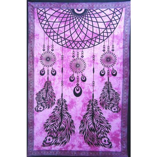 Wandtuch | Bettüberwurf - Traumfänger purple
