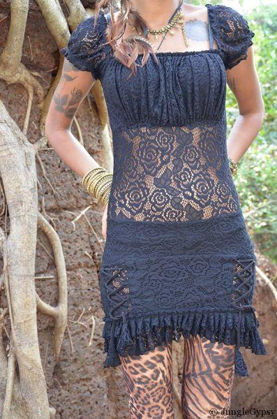 Lotus Dress | black