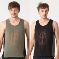 Tank Top Trishula | black green