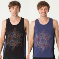 Tank Top Vortex | black blue