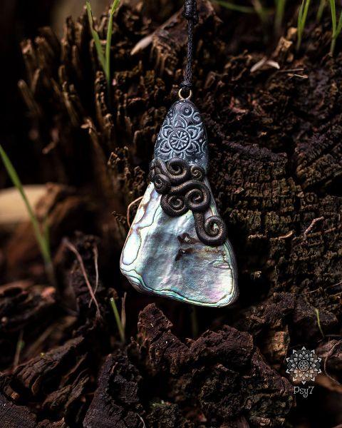 Anhänger - Halskette | Perlmutt - Polymerton #2