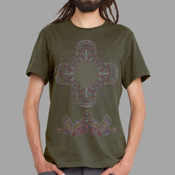 T-Shirt DMT HD olive | UV-aktiv