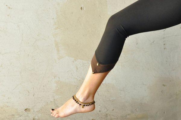 Leggings - Zipfel & Perle | schwarz - braun