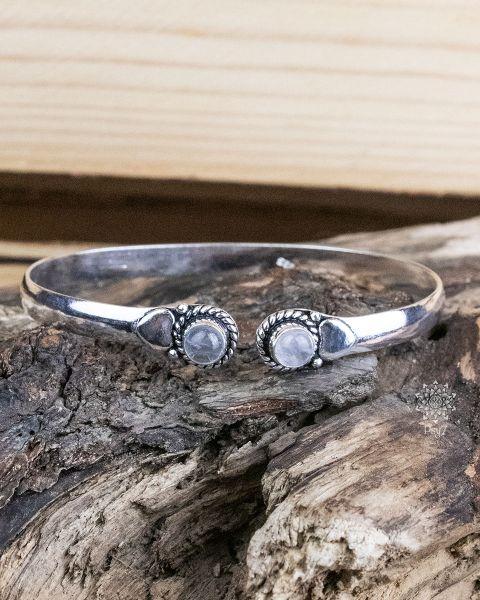 Armreif Silber | Bergkristall